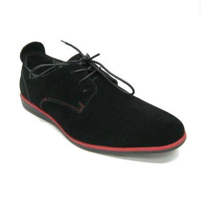 Czarne zamszowe pantofle Black Forest