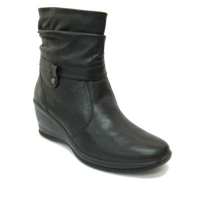 Skórzane buty damskie Imac, kolor czarny