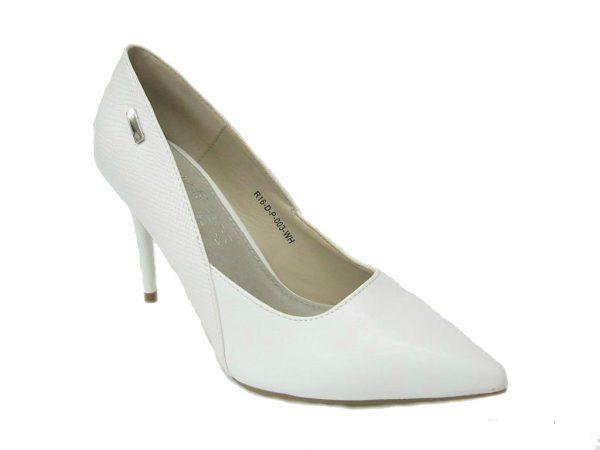 Czółenka damskie Wishot, kolor biały