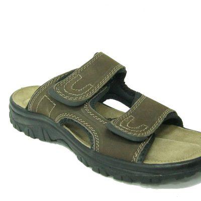 Męskie buty klapki Marco Tozzi, kolor brązowy