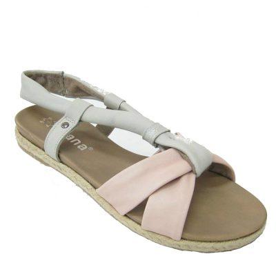 Damskie sandały Jana, kolor szary-różowy