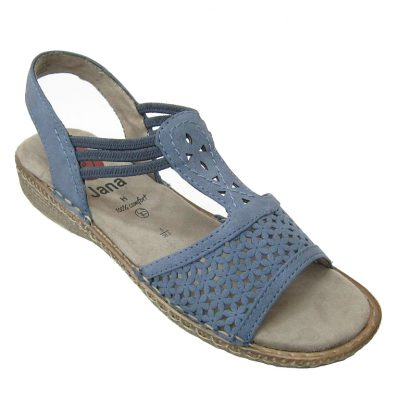 Niebieskie sandały Jana