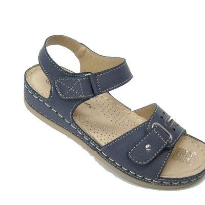 Granatowe letnie sandały damskie