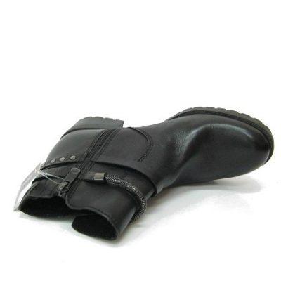 Czarne botki Tamaris