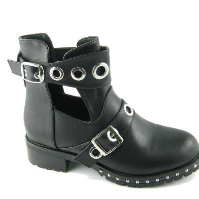 Czarne workery damskie Fashion
