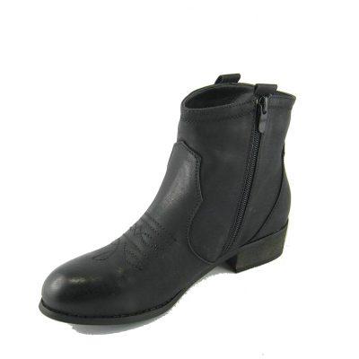 Czarny sztyblet damski Fashion