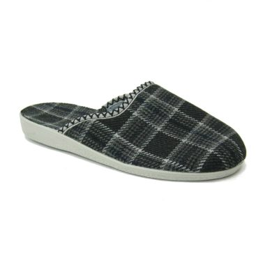 Męskie pantofle tekstylne czarne