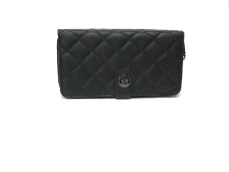 fa1d10c7e79ca Portfel damski pikowany czarny - Modny portfel w niskiej cenie