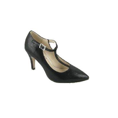 Czarne pantofle damskie Caprice