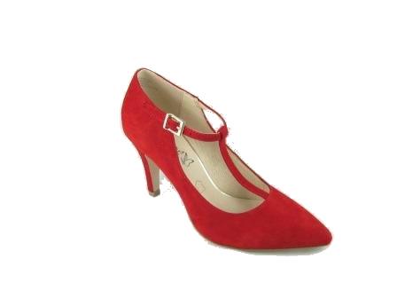 Czerwone pantofle damskie Caprice