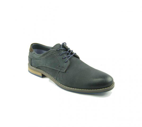 Niebieskie pantofle skórzane męskie