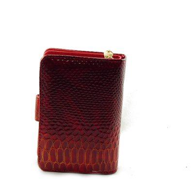 Bordowy portfel ze skóry ekologicznej