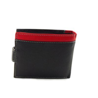 Męski portfel z czerwonym paskiem