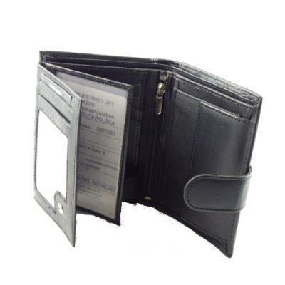 Czarny męski portfel