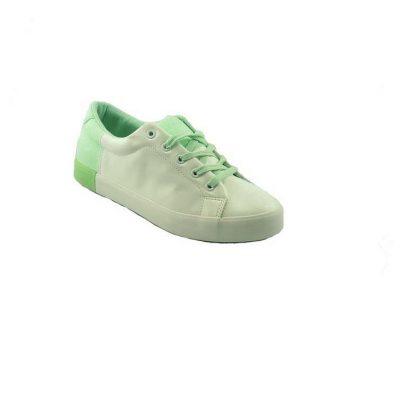 Biało zielone trampki skórzane DK