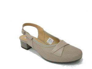 beżowe letnie buty galant