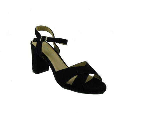 Czarne sandały na obcasie DK