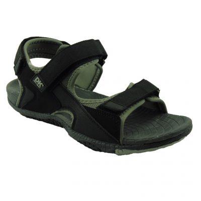 Czarne sandały męskie DK