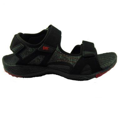 Czarno-czerwone sandały męskie DK