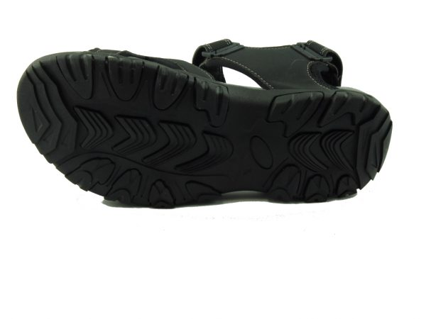Czarne męskie sandały DK