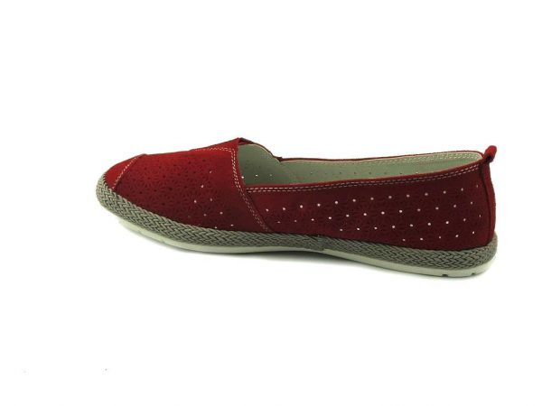 Czerwone buty wsuwane Sokolski
