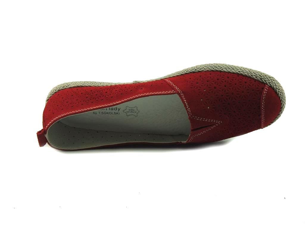 90137ab220765 Czerwone buty wsuwane Sokolski - najwygodniejsze cichobiegi na lato!