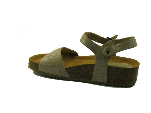 Skórzane sandałki z paskiem na kostce Bio UP