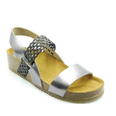 Skórzane sandały z paskiem Bio UP
