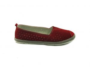 Sokolski czerwone wsuwane buty