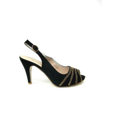 Czarne sandały na obcasie Wishot