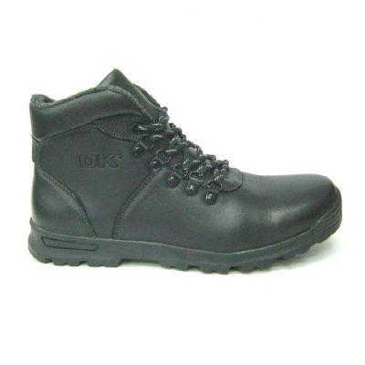 Skórzane buty trekingowe czarne