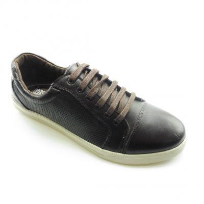 Męskie brązowe sneakersy