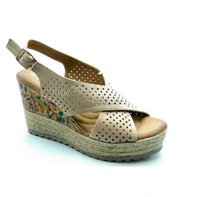 Sandały damskie beż 4255-156