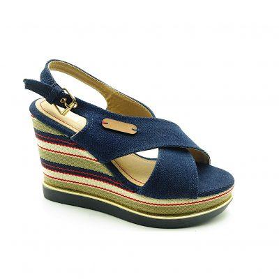 Sandały damskie jeans 6416-6A