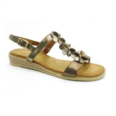 Sandały damskie BZ76169 brązowy