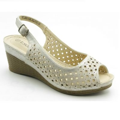 Sandały damskie YL20L-12 srebrny